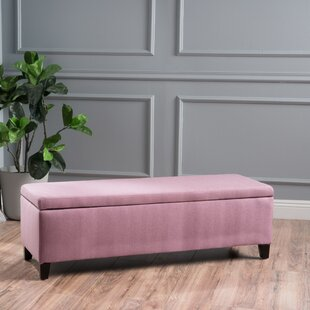 Schmit Upholstered Storage Bench Wrought Studio