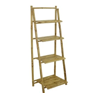 Major 4 Tier Ladder Bookcase by Bay Isle Home 2019 Sale