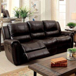 Garces Leatherette Recliner Sofa