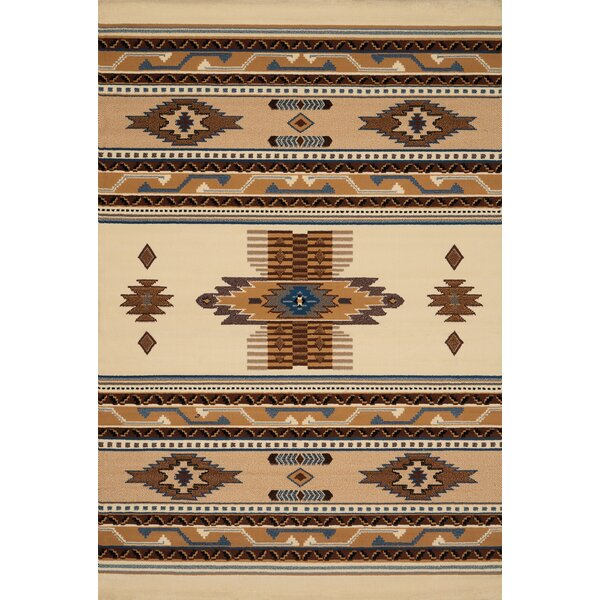 Hyacinthe Beige Area Rug by Loon Peak