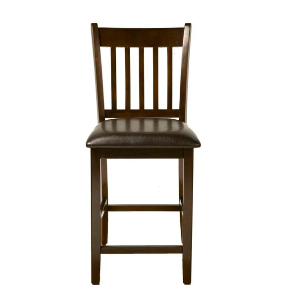 Pinard Leather Upholstered Bar Stool (Set of 2) by Winston Porter