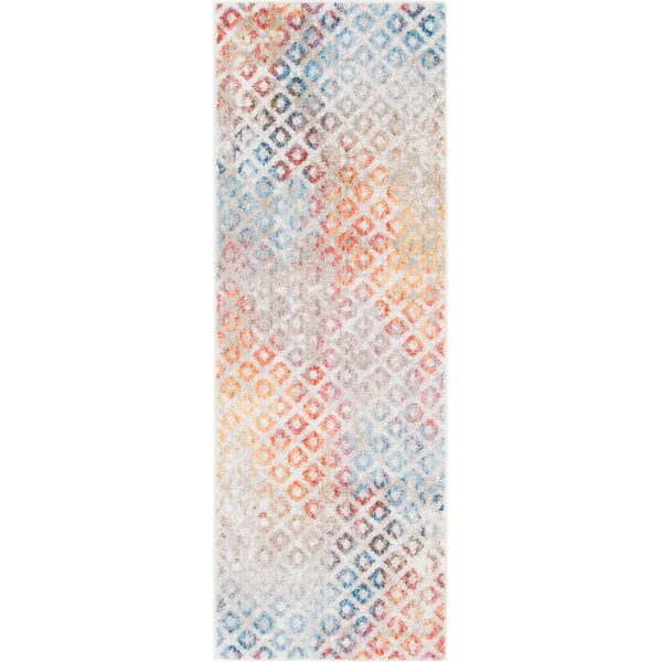 Beasley Prism Blue/Orange Area Rug by Wrought Studio