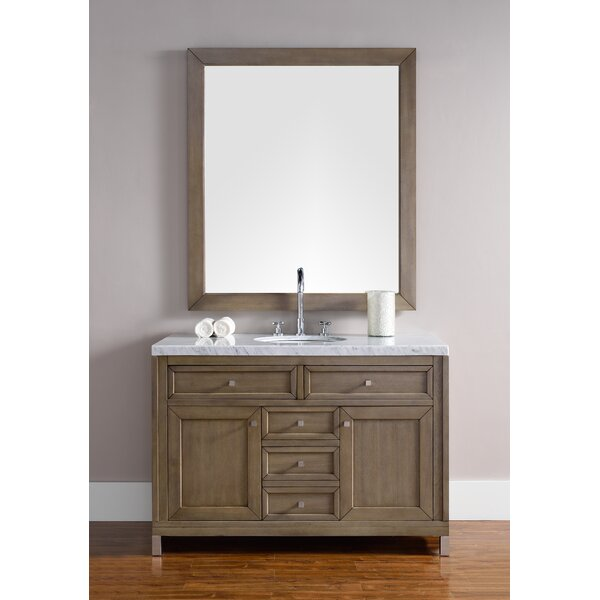 Valladares 48 Single White Washed Walnut Bathroom Vanity Set by Brayden Studio