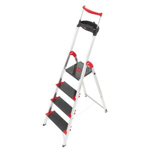 Championsline 4.79 ft Aluminum Step Ladder with 495 lb. Load Capacity