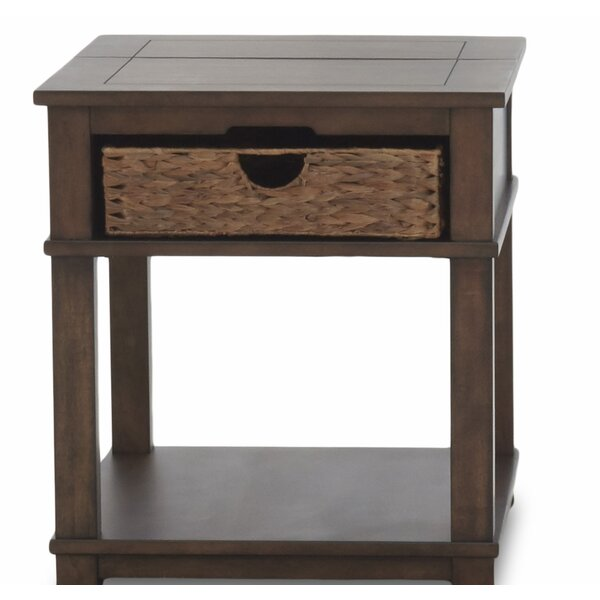 Coffman End Table with Storage by Rosecliff Heights