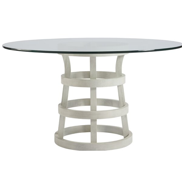 Rachel Glass Dining Table by Bay Isle Home