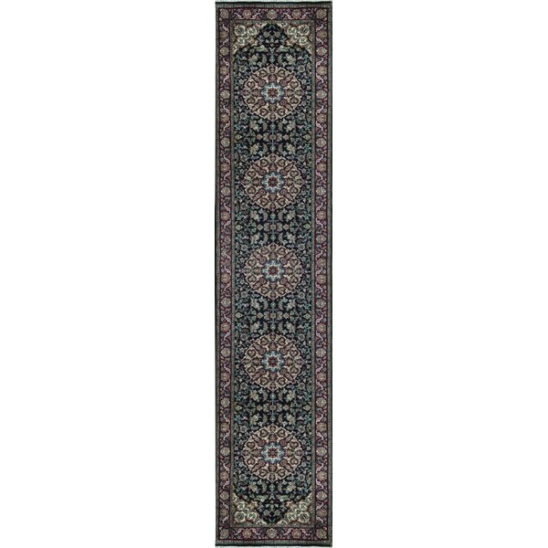 Hand Knotted Wool Navy/Red Rug