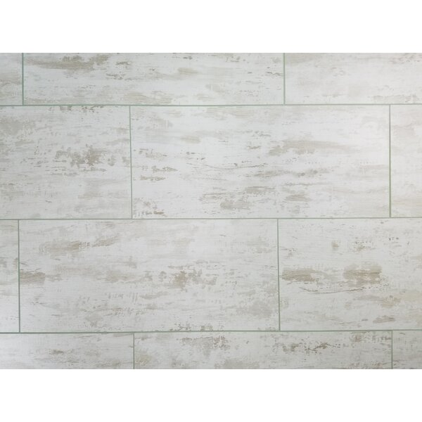 Nature 7 x 16 Glass Subway Tile in Gray/White by Abolos