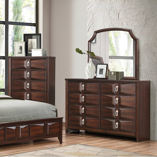 Redbrook 8 Drawer Dresser with Mirror by World Menagerie