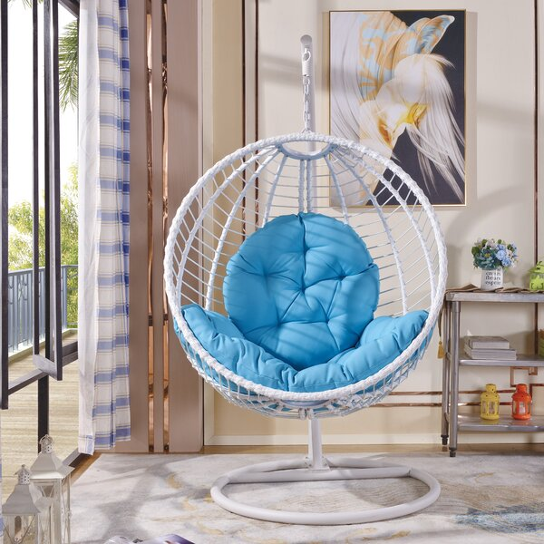 Shania Swing Chair with Stand by Rosecliff Heights