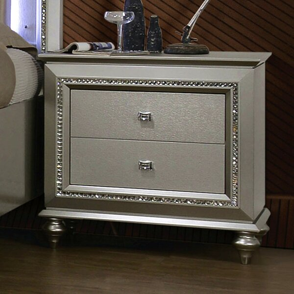 Samana 2 Drawer Nightstand by Orren Ellis