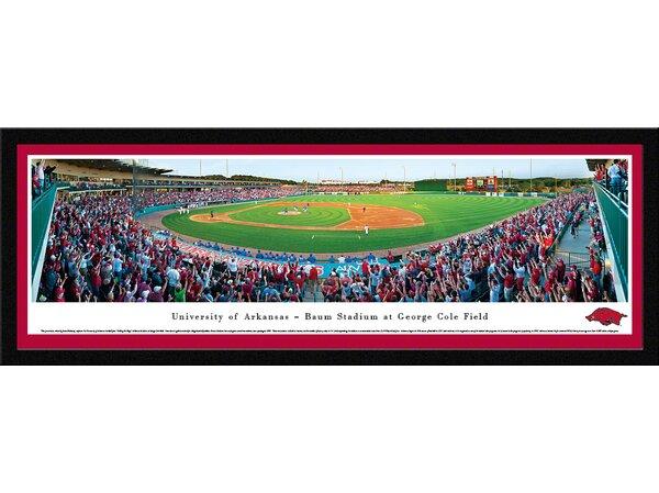 NCAA Arkansas, University of - Baseball by James Blakeway Framed Photographic Print by Blakeway Worldwide Panoramas, Inc