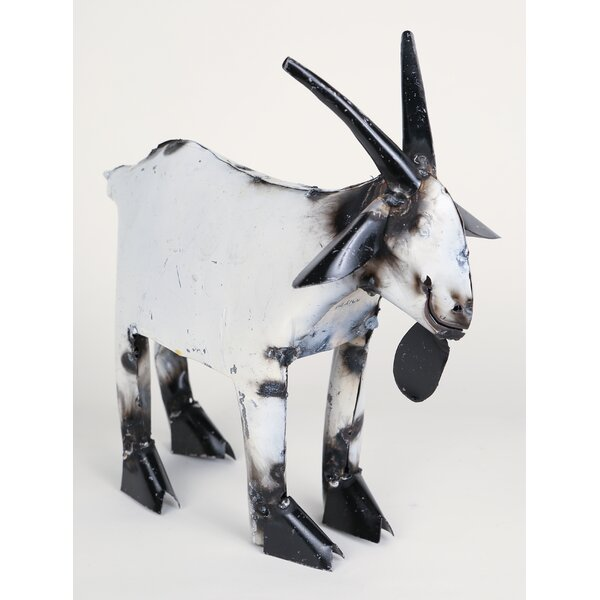 Small Recycled Metal Goat Figurine by My Amigos Imports