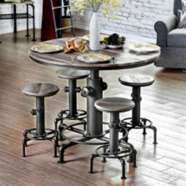 Mildred 5 Piece Pub Table Set (Set of 5) by 17 Stories
