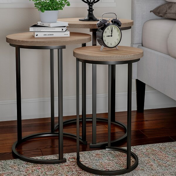 Caire 3 Piece Frame Nesting Tables (Set Of 3) By Union Rustic