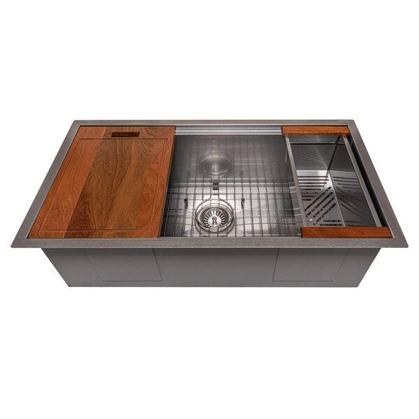Garmisch 33 L x 18 W Undermount Kitchen Sink with Basket Strainer