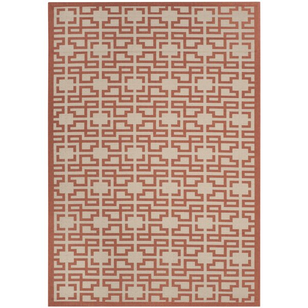 Beige/Terracotta Area Rug by Martha Stewart Rugs