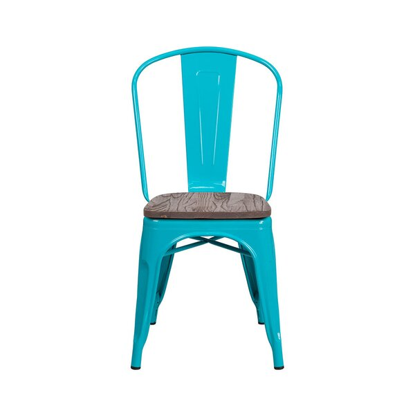 Nona Metal Stackable Dining Chair by Williston Forge