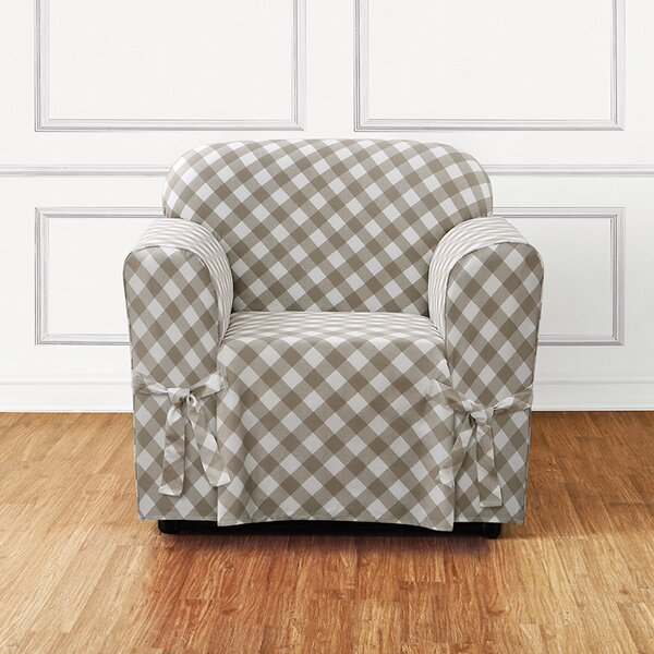Buffalo Check Box Cushion Armchair Slipcover by Su