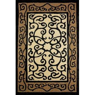 Looking for Clayborn Hand-Hooked Black/Beige Indoor/Outdoor Area Rug ByFleur De Lis Living