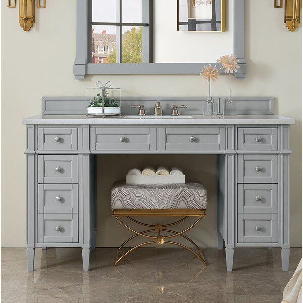 Dussault 60 Single Urban Gray Bathroom Vanity Set by Darby Home Co