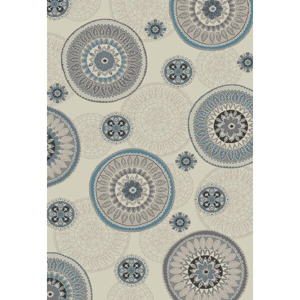 Stratford Orbit Ivory Area Rug by Mayberry Rug