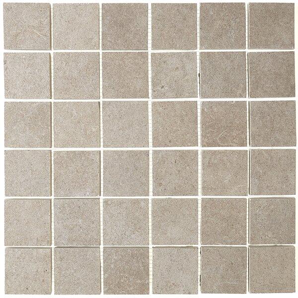 Haut Monde 2 x 2 Ceramic Mosaic Tile in Elite Gray by Daltile