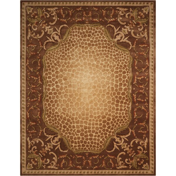Aedan Hand-Tufted Brown Area Rug by Bloomsbury Market