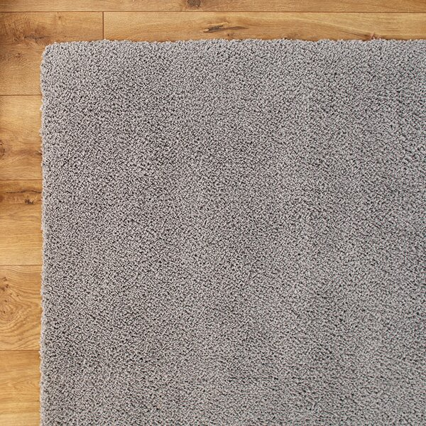Shaggy Hand-Woven Gray Area Rug by Birch Lane Kids™