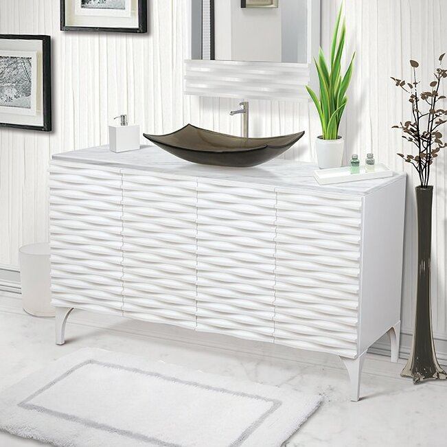 "decolav sophia 60"" single bathroom vanity & reviews 