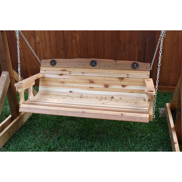 Tryston Texas Star Porch Swing by Millwood Pines
