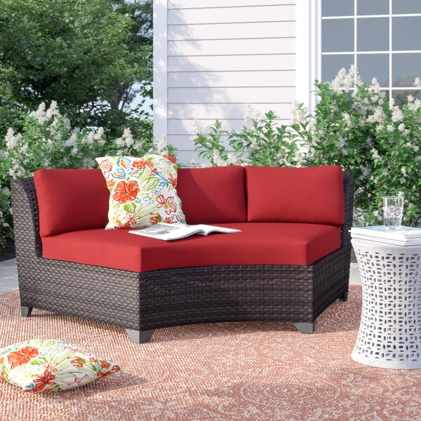 Rayna Patio Sofa with Cushions by Rosecliff Heights