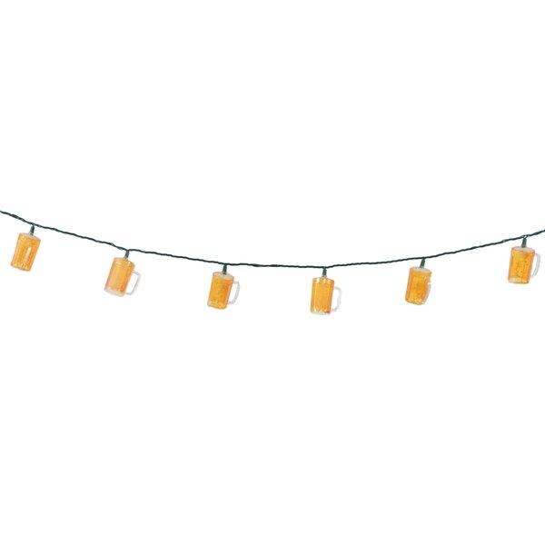 10-Light 8.5 ft. Beer Stein Novelty String Lights by DEI