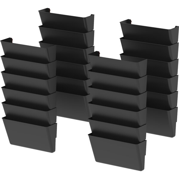 Letter Recycled Wall File (Set of 24) by Storex