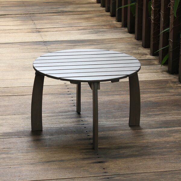 Windell Solid Wood Side Table by Highland Dunes