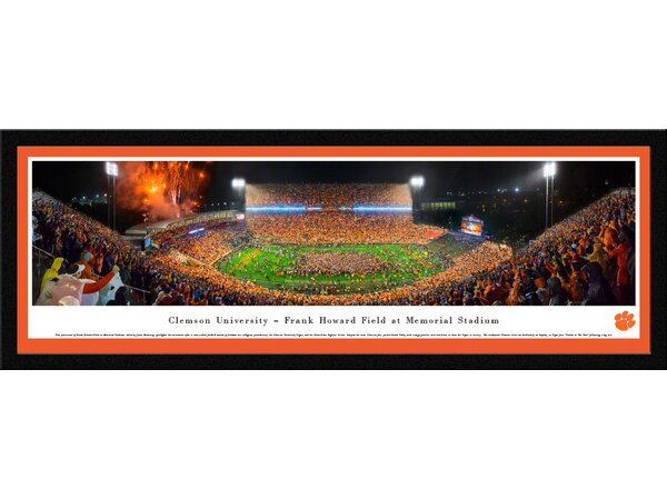 NCAA Clemson University - Football by James Blakeway Framed Photographic Print by Blakeway Worldwide Panoramas, Inc