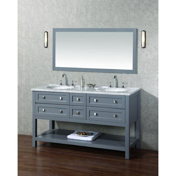 Wilmot 60 Double Bathroom Vanity Set with Mirror by Brayden Studio