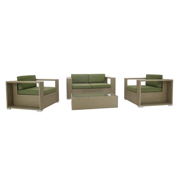 4 Piece Rattan Sofa Seating Group with Cushions by PHANTOM