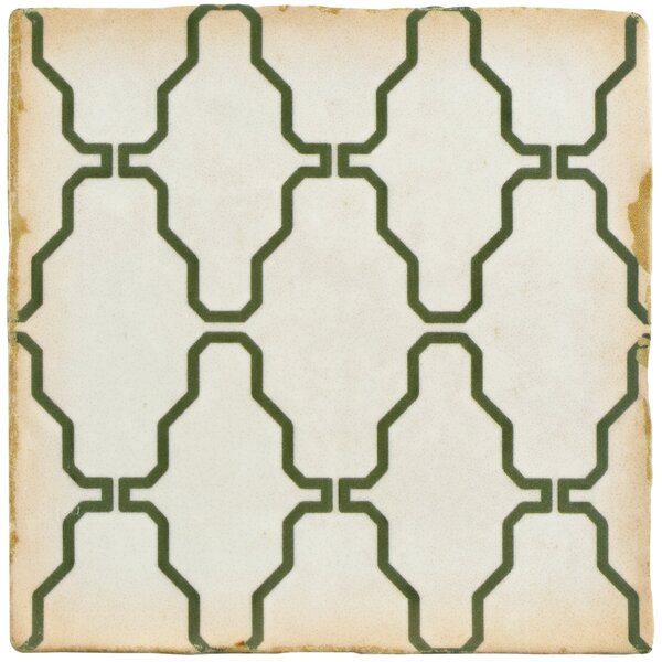 Arquivo 4.88 x 4.88 Ceramic Field Tile in White by EliteTile