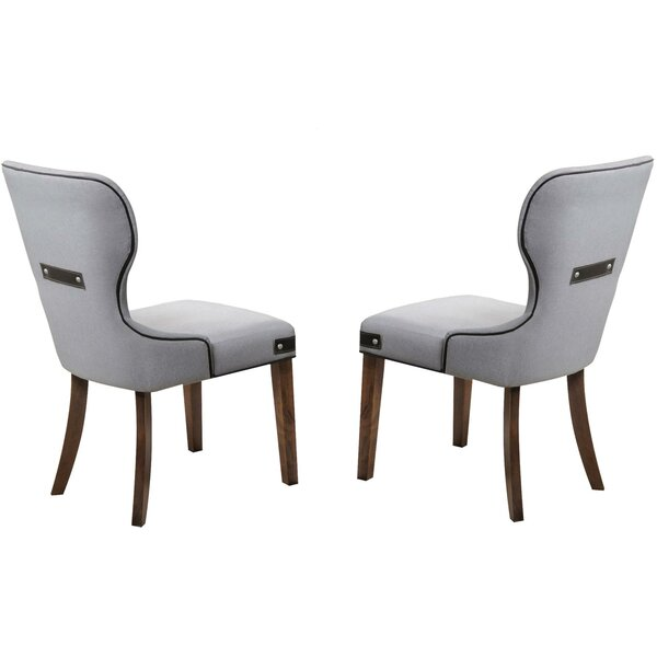 Tweed Upholstered Dining Chair (Set of 2) by Gracie Oaks