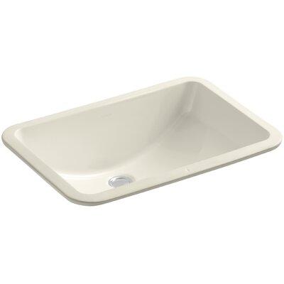 Undermount Sink Ceramic Rectangular Overflow Sink Almond photo