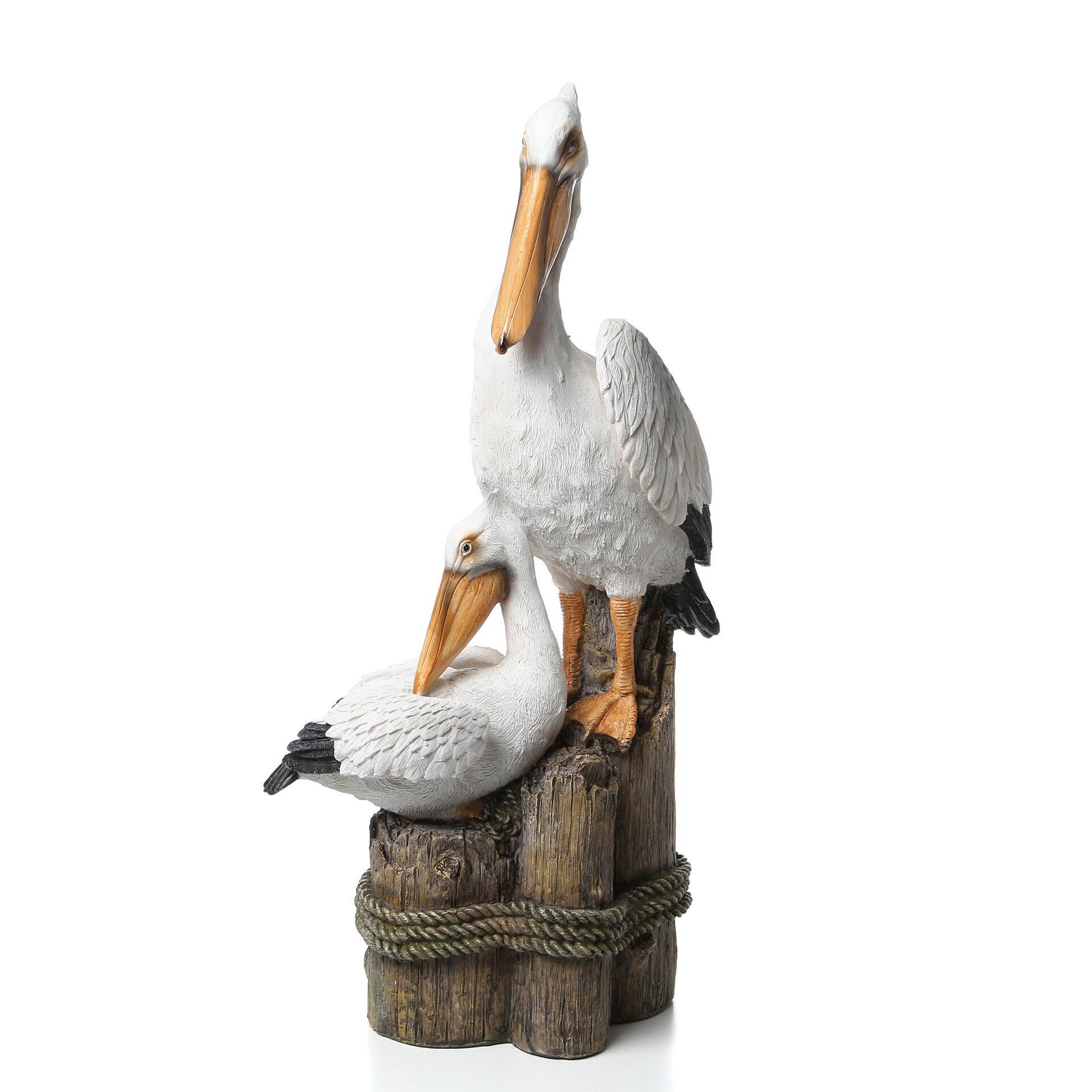 """Design Toscano Exclusive Dock Of The Bay 10/"""" Hand Painted Pelican Garden Statue"""