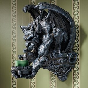 Whitechapel Manor Gargoyle Wall Sconce (Set of 2)