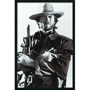 'Clint Eastwood Crossed Guns - Western Outlaw Josey Wales' Framed Photographic Print by Buy Art For Less