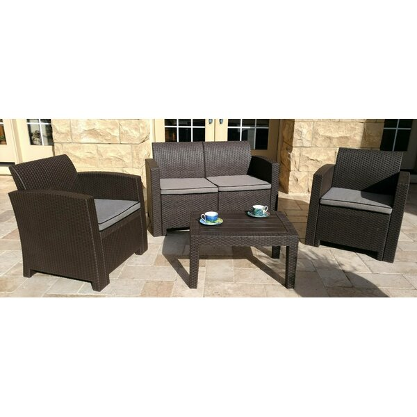 Pelletier 4 Piece Sofa Set with Cushions by Ebern Designs