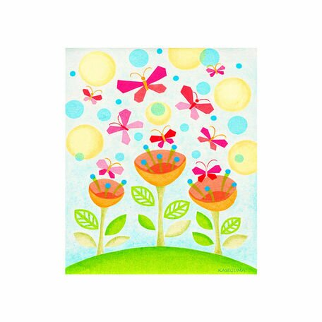 Flower Party Canvas Art by Oopsy Daisy