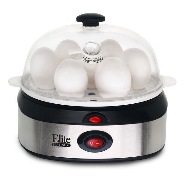 Platinum Stainless Steel Automatic Egg Cooker by Elite by Maxi-Matic