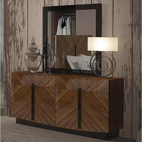 Alers 6 Drawer Double Dresser with Mirror by Brayden Studio