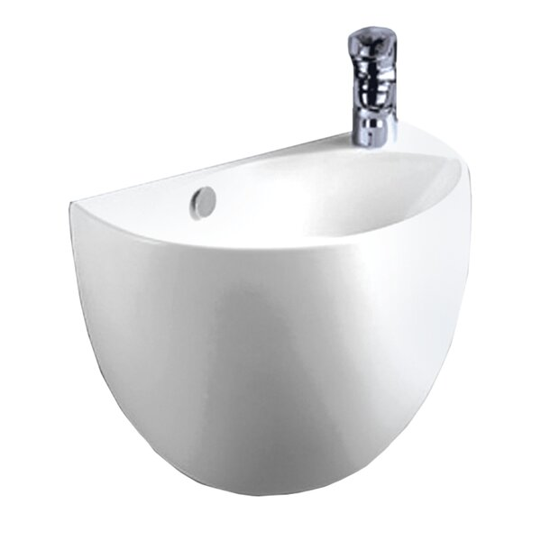 Isabella Vitreous China 15 Wall Mount Bathroom Sink with Overflow by Whitehaus Collection