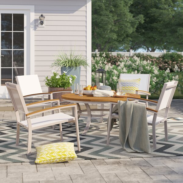 Caspian 5 Piece Multiple Chairs Seating Group By Sol 72 Outdoor